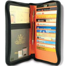 Pacsafe  10430100 RFID-tec 225 防盗 折叠 RFID屏蔽 旅行 钱包 护照包