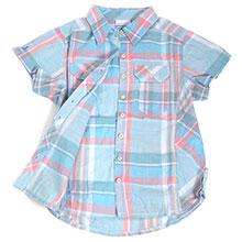 Columbia 哥伦比亚 AR7979 女款 花格条纹 短袖 衬衫