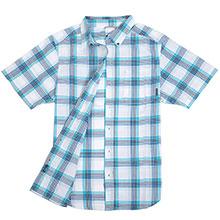 Columbia 哥伦比亚 AM9005 纯棉格子布短袖衬衫