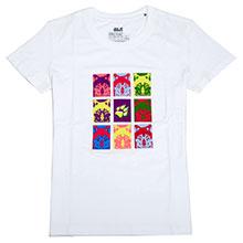JackWolfskin 狼爪 C500040 POP-ART WOLF TEE  女款 T恤